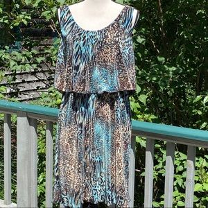 NWT- CONNECTED APPAREL animal print dress.